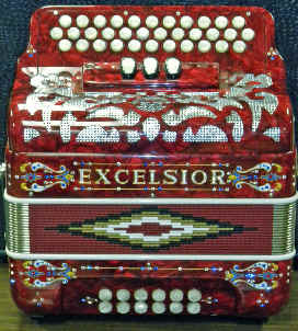 THREE ROW BUTTON ACCORDIONS: Hohner Panther, Hohner Corona