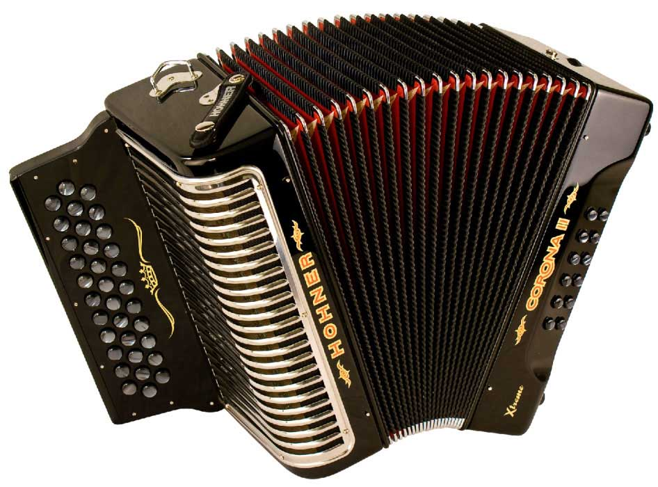 Three Row Button Accordions  Hohner Panther  Hohner Corona